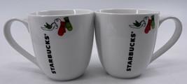 Starbucks 2011 Christmas Winter Holiday 13 oz Coffee Mugs Mittens Birds ... - $17.81