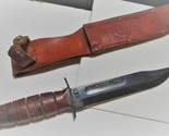 Knife  usmc ww11 in  leather seath engraved with name of owner 1 thumb155 crop