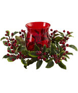 Christmas in July Holly Berry Candelabrum Table Family Gifting Home Office  - $44.99