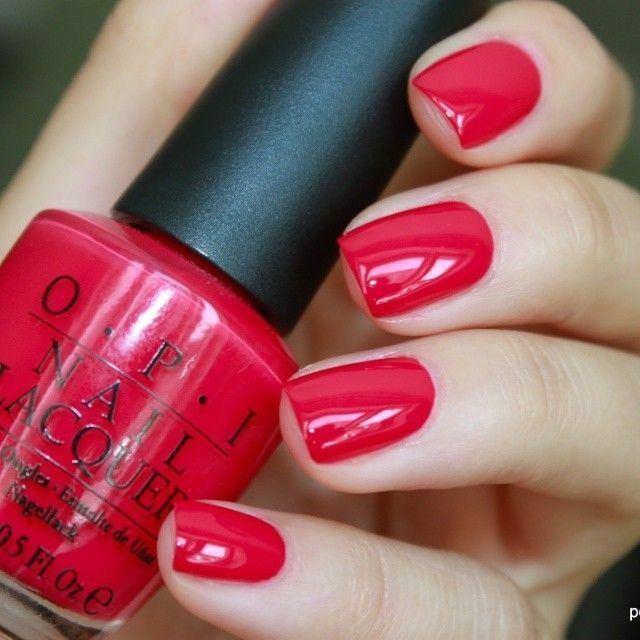 Primary image for OPI Classics DUTCH TULIPS Bright Cherry Red Cream Nail Polish Lacquer L60 NEW!!!
