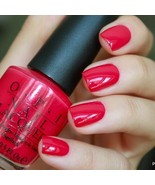OPI Classics DUTCH TULIPS Bright Cherry Red Cream Nail Polish Lacquer L6... - $9.39