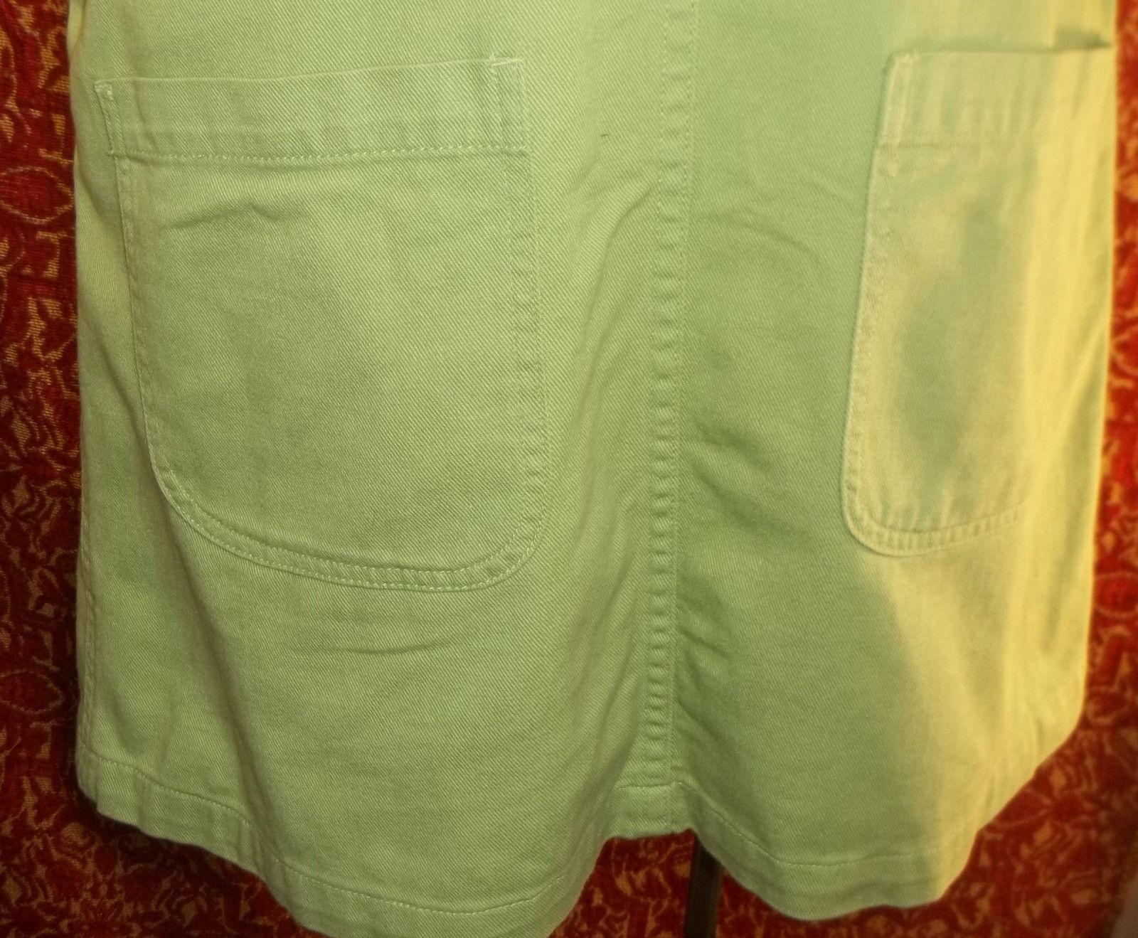 BILL BLASS Vtg 90s Grunge denim deep armholes pinafore overalls dress (T320DC8G)