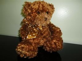 Gund Bear RUSTY Copper Plush Chiffon Satin Bow 12 inch 15098 - $56.40