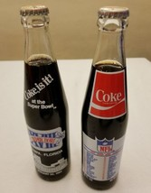 2 Unopened BOTTLES Coke 1984 Super Bowl XVIII Tampa, FL Raymond James Ma... - $16.48