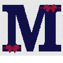 pepita Letter M Bows Needlepoint Kit - $74.00