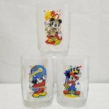 McDonalds Disney 2000 Glasses Set of 3 Epcot Animal Kingdom Disney Studios - $14.99