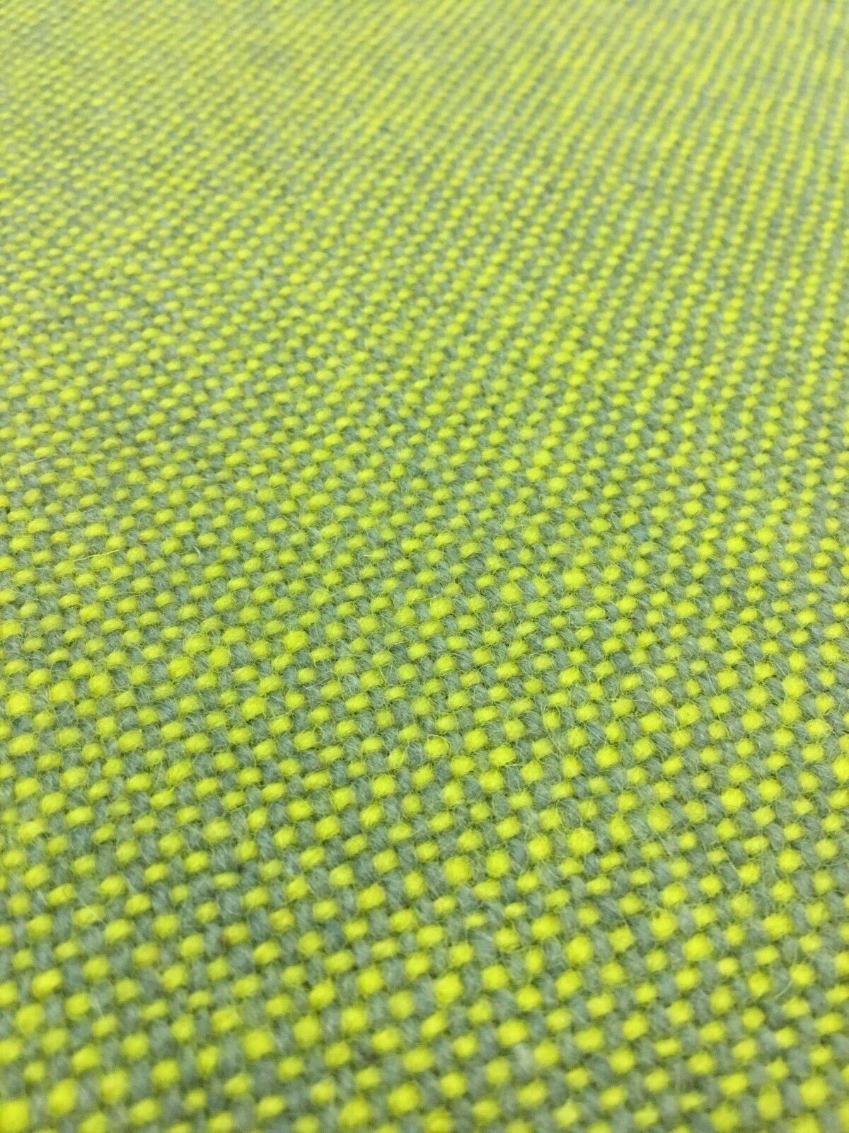 Designtex Tweed Gray & Yellow Woven Wool Upholstery Fabric 2 yards PW