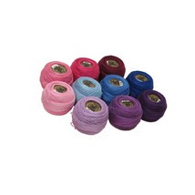 Perle Cotton Size 8 Embroidery Threads - Set Of 10 Balls (10Gr Each) - P... - $73.99