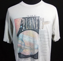 The Planets Neil Armstrong Museum Mens XL T Shirt Creme Alstyle Has Issues - $14.84