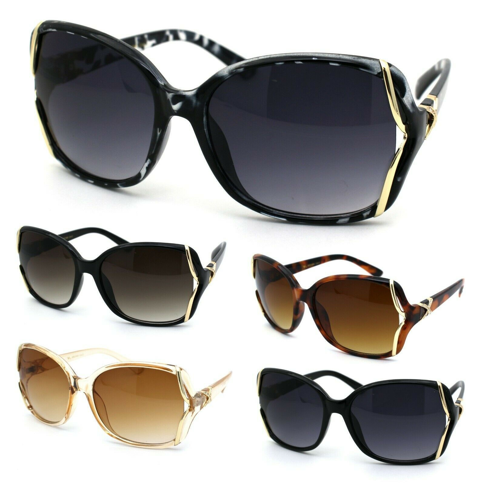 Womens Rhinestone Butterfly Designer Fashion Plastic Sunglasses