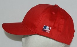 OC Sports Official License of MLB OSFM Style 808 Bright Cherry Red Adjustable image 2