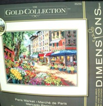 Dimensions Gold Collection Counted Cross Stitch Kit Paris Flower Market ... - $37.61