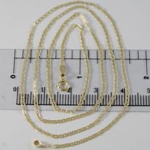 Kette Gelbgold 750 18K, 50 cm, Mini Marine Flach und Strick Durchmesser ... - $233.28