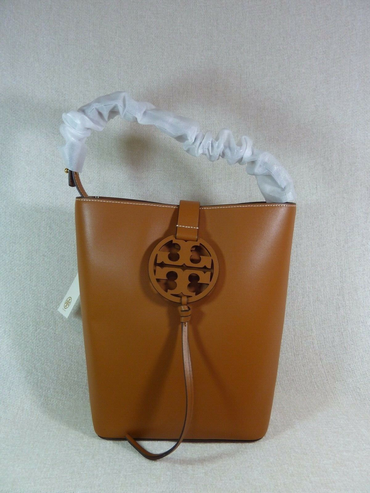 NWT Tory Burch Aged Camello Miller Hobo/Shoulder Tote $458 - Minor Imperfection image 3