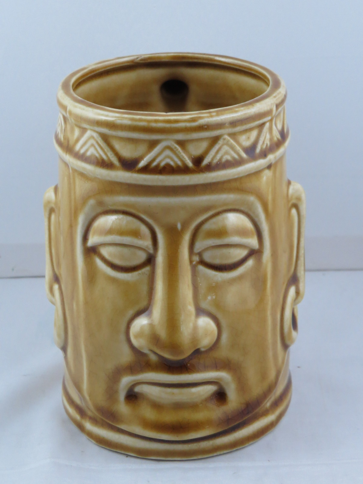Primary image for Vintage Tiki Mug - Tribal King Head - Made in Japan - Ceramic Mug