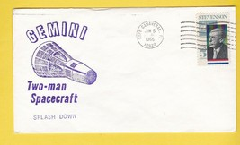 GEMINI TWO-MAN SPACECRAFT SPLASHDOWN CAPE CANAVERAL JUNE 6 1966  - $2.98
