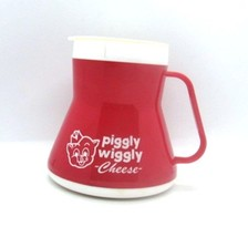 Piggly Wiggly Cheese Plastic No Slip Red Travel Coffee Cup Mug Schreiber... - $37.99