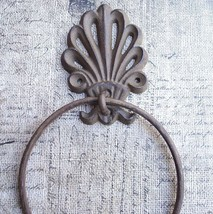Victorian Cast Iron Towel Ring Holder Bath Decor Hardware Cast Iron  Bro... - ₨819.37 INR