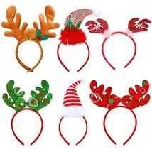 Tin Field Santa Hats (6 Pack), Christmas Party Hats Christmas Reindeer C... - $20.31