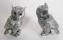 "Set of 2 Wise Owls Silver Colored Home Decor 5.5"" Tall - $26.68"