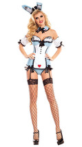 Sexy Party King Wonderland Bunny Strapless Bodysuit Deluxe Costume PK702 - $62.99