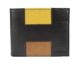 New Tommy Hilfiger Men's Leather Double Billfold Passcase Wallet & Valet (Dark B