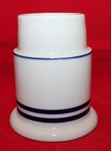 Dansk Christianshavn Blue Hurricane Lamp Bottom Only White Navy Blue Replacement - $26.77