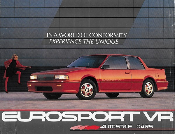 1988 Chevrolet Celebrity EUROSPORT VR sales brochure sheet 88 Chevy