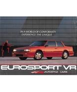 1988 Chevrolet Celebrity EUROSPORT VR sales brochure sheet 88 Chevy - $8.00