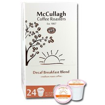 McCullagh Coffee Roasters DECAF Breakfast Blend Coffee 96 to 192 Kcups FREE SHIP - $56.98+