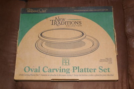 Pampered Chef #1319 New Traditions Oval Carving Platter Set - $34.99
