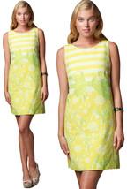 $278 Lilly Pulitzer Stephanie Commodore yellow gotcha Daffodil Shift Dre... - $139.50