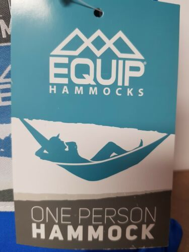 Equip ONE PERSON GREEN Travel 1.2 lb. Hammock 400 lb. Weight Capacity NEW