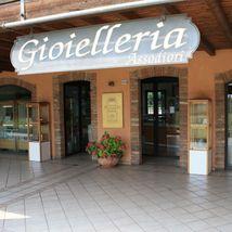 ORECCHINI ORO BIANCO E GIALLO 18K ROTONDI CON ALBERO DELLA VITA MADE IN ITALY image 8