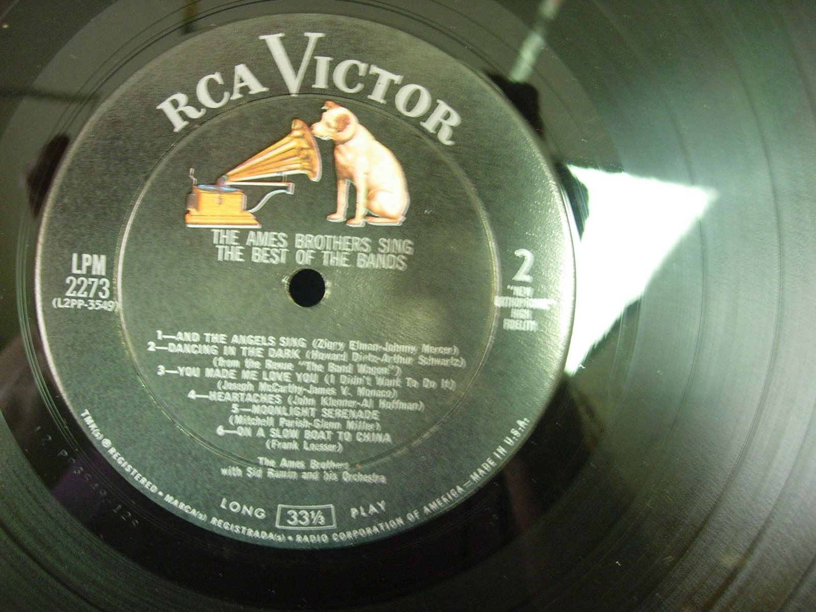 The Ames Brothers Sing the Best of the Bands - RCA Victor LPM-2273