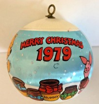 Hallmark 1979 Winnie the Pooh and Gang Satin Ball Christmas Tree Ornament  - $9.89