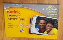 "KODAK Premium Photo Paper, 20 sheets, High Gloss, Factory SEALED, 4""x 6"" - $3.95"
