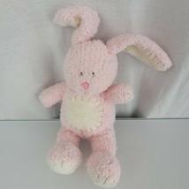 "Kids Preferred Pink White Bunny Rabbit Chenille Tummy Circle Stitch 8"" F... - $15.83"