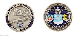 "ELLSWORTH AIR FORCE BASE AFB LOGO 1.75"" CHALLENGE COIN - $16.24"