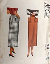 VTG 1940s Sewing Pattern McCall #7544 Misses' Slim Pencil Skirt Waist 23... - $20.48