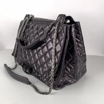 Authentic Chanel Black Quilted Leather Large Reissue 2.55 Accordion Flap Bag image 6