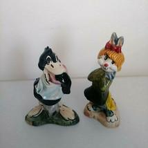 Warner Bros Carosello Daffy Duck Honey Bunny Hand Painted Decanter Empty... - $48.33
