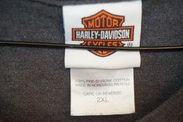 Harley RK Stratman Midweight Cotton T-Shirt, Gray, Men's 2XL 7721 image 4