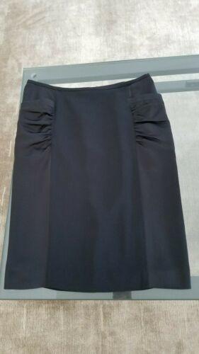 ARMANI COLLEZIONI Black Viscose Like Satin Panels Dress Skirt  Size 8 image 8
