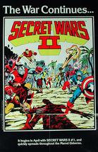Promo Poster: SECRET WARS II 1985 22 x 34 in. J.Byrne T.Austin - $8.99