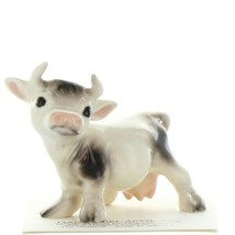 Hagen Renaker Farm Cow Black and White Mama Ceramic Figurine image 1
