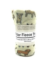 Manhattan Heights Ploar Fleece Throw- Dogs - $9.89