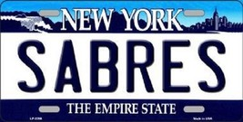 """NHL Buffalo Sabres License Plate State Background Metal Tag  U.S.A."""" - $9.85"""