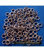 4mm Copper plated split rings jump rings 100pcs clasp charm attachment f... - $1.65