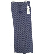*KISS & CRY COVER UP LOUNGE PANTS SIZE M BLUE GEOMETRIC PRINT LIGHTWEIGH... - $16.98